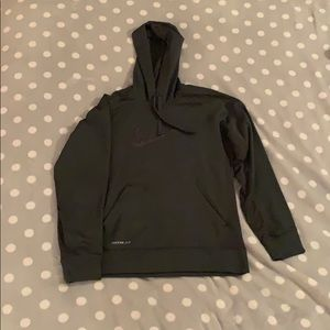 Forest green men's Nike therma fit hoodie